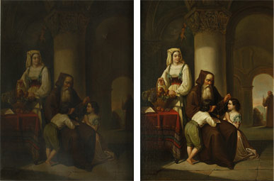 Holy Family - Before and After Restoration