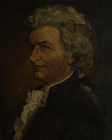 Portrait of Mozart - Before